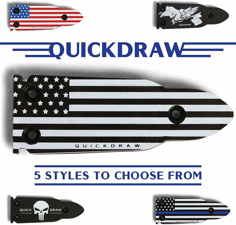 QuickDraw Magnetic Gun Mount - Black & White Flag