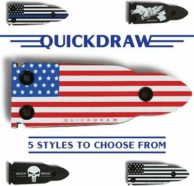 QuickDraw Magnetic Gun Mount - Red White & Blue Flag
