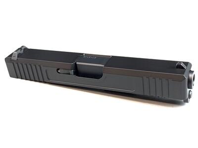 Glock 19 Slide w/ Front & Rear Serrations - Black