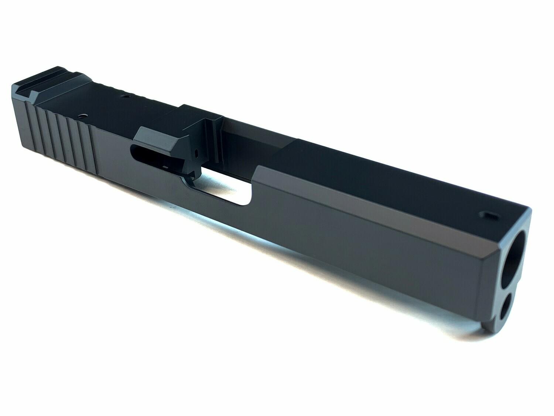 Glock Slide Black Cerakote Color - RMR Cut w/Back Serrations - Pick Your Size G19 Or G17