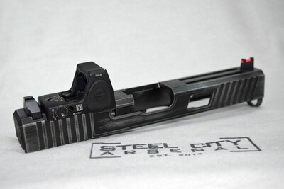 Steel City Arsenal Mid Height Lower 1/3 Fiber Sights - Works Outstanding With Or With Out Using A Red Dot.