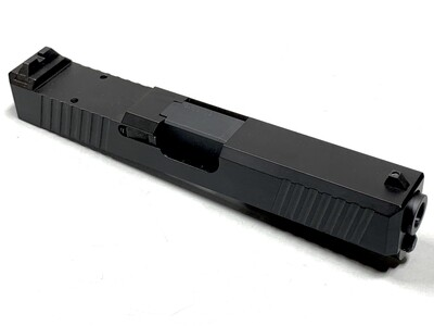 Glock 19 Slide w/ Rear Serrations - RMR Trijicon Cut - Black