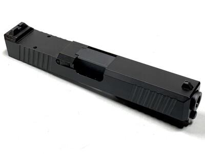 Glock 19 Slide w/ Rear Serrations - RMR Trijicon Cut - Black
