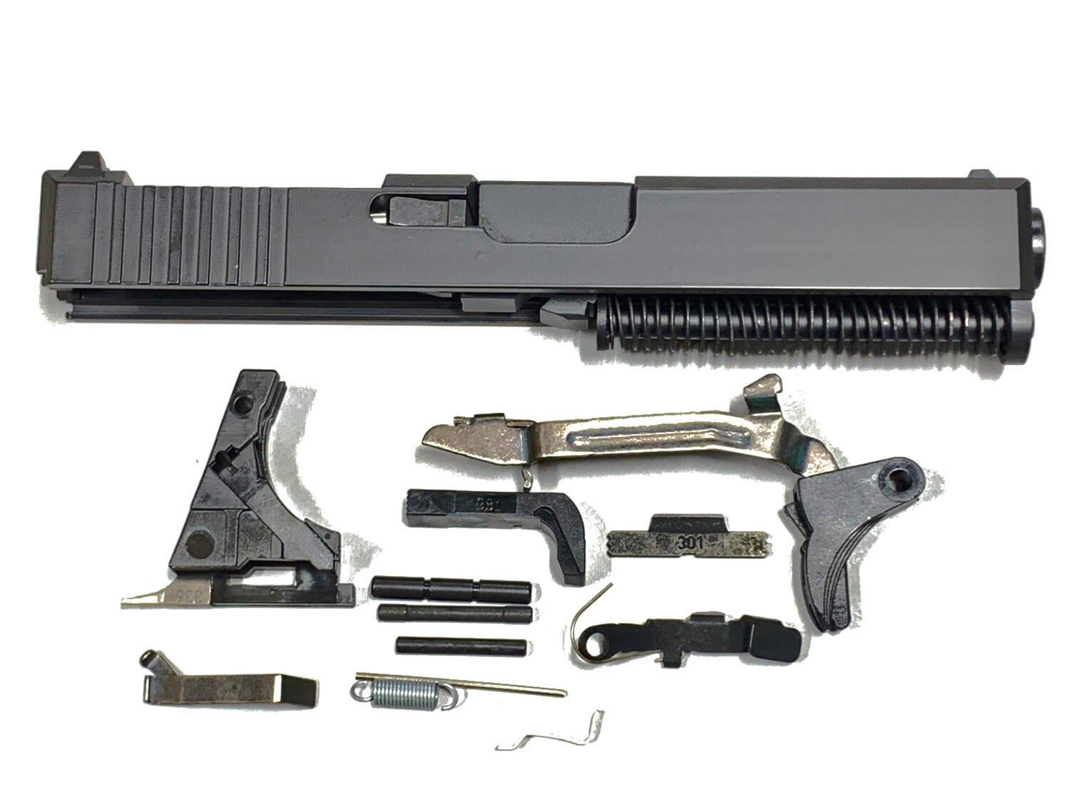Glock 19 Complete Built Slide w/ Rear Serrations - RMR Trijicon Cut - Black - Comes With Glock OEM Lower Parts Kit - Free Shipping