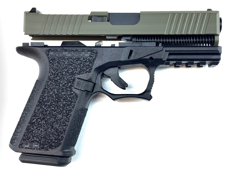Patriot G19 RMR 80% Pistol Build Kit 9mm - Polymer80 PF940C - BLACK/OD- 10rd Mag