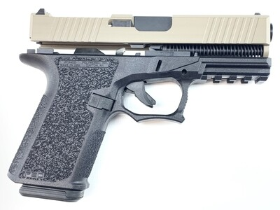 Patriot G19 RMR 80% Pistol Build Kit 9mm - Polymer80 PF940C - BLACK/FDE- 10rd Mag
