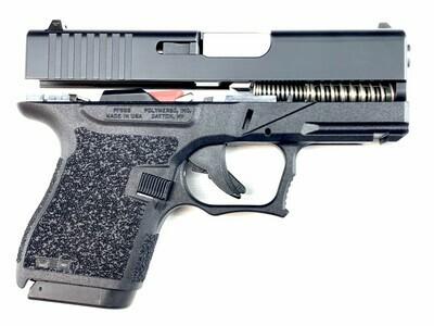 80% PF9SS Glock 43 Subcompact Full Pistol Build Kit - Black / Black - Amend2® 6 round magazine