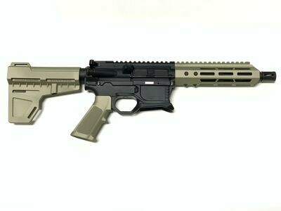 80% AR-15 High Desert Sand Pistol Kit - 5.56 NATO 7.5