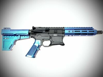 80% AR-15 Shocker Blue Pistol Kit - 5.56 NATO 7.5