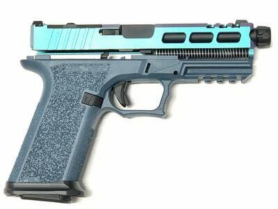 Patriot G17 80% RMR Pistol Build Kit 9mm - Polymer80 PF940V2 - Blue Titanium