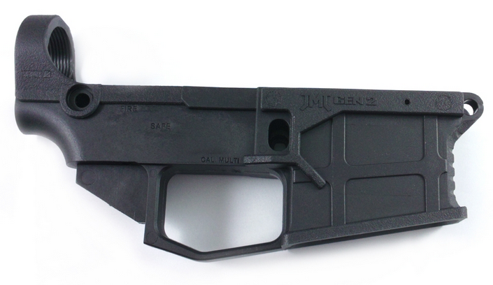 James Madison Tactical AR-15 80% Polymer GEN2 Lower Receiver with FREE machining jig - Black