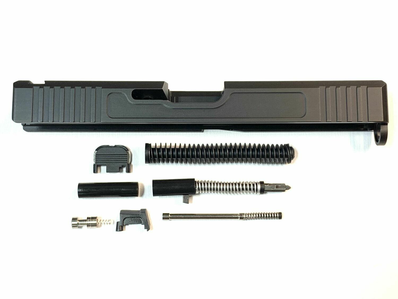 Glock 17 Slide w/ Front & Rear Serrations Black - With Slide Upper Build Kit