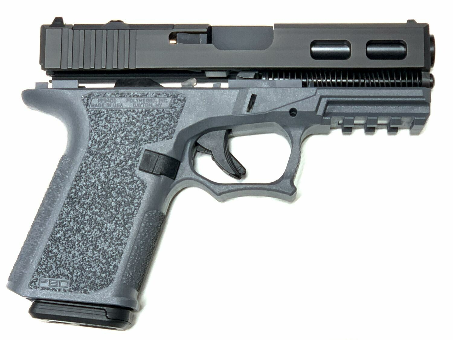 Patriot G19 RMR Windowed Slide 80% Pistol Build Kit - Polymer80 PF940C - BLACK / GRAY