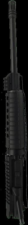 """AR-15 5.56 16"""" 1/8 Twist Upper w/ Rail Height Gas Block"""