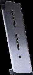 1911 Stainless Steel Magazine - Wilson Combat .45 8RD Lo-Profile Steel Pad