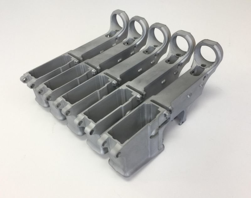 AR-15 80% Lower Receiver - Premium Raw Forged 5.56/.223 (5-Pack)