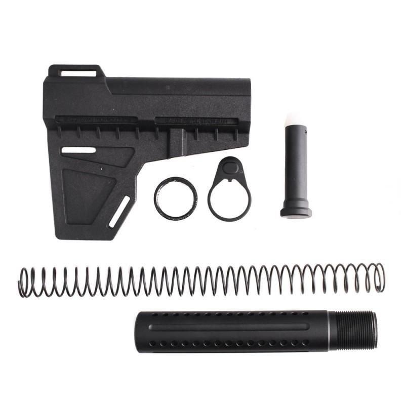 AR-15 .223 / 5.56 Shock Wave Blade w/ Custom Pistol Buffer Tube Kit