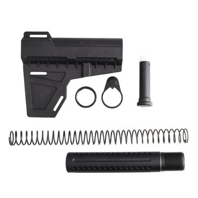 AR-15 .223 / 5.56 Shock Wave Blade w/ Custom Pistol Buffer Tube Kit