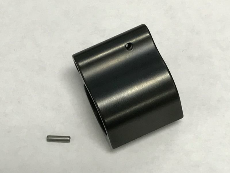 Premium USPA Low Pro .750 Steel QPQ Dark Black Nitride Finish Gas Block w/ Stainless Steel Roll Pin