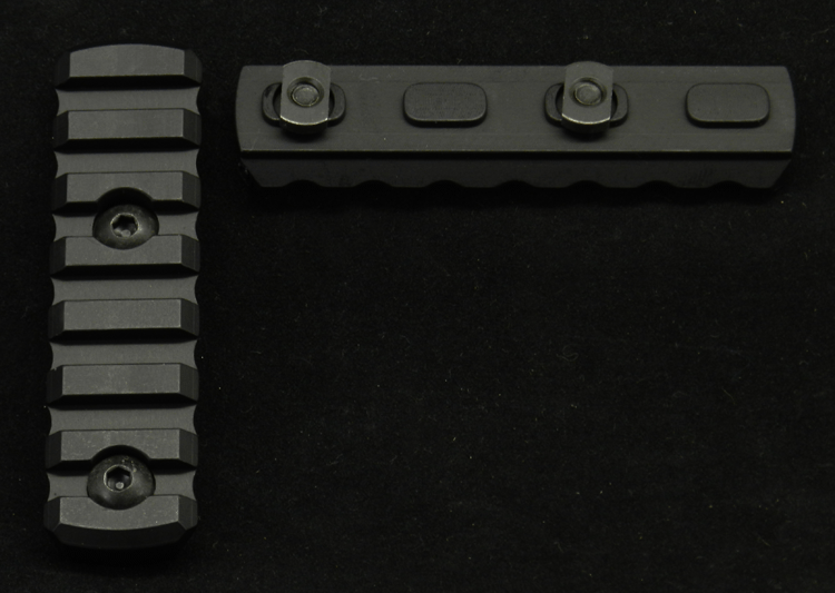 "JL BILLET 3"" M-Lok Attachment Rail Section, 7 Slot"