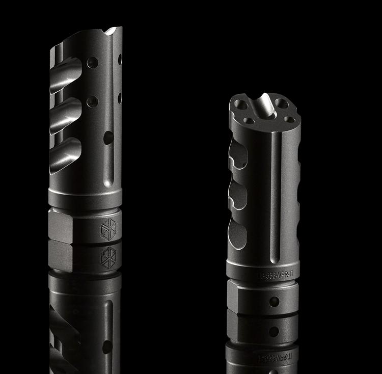 Titanium 5.56 / 223 Cal V.P.R. Muzzle Brake Black