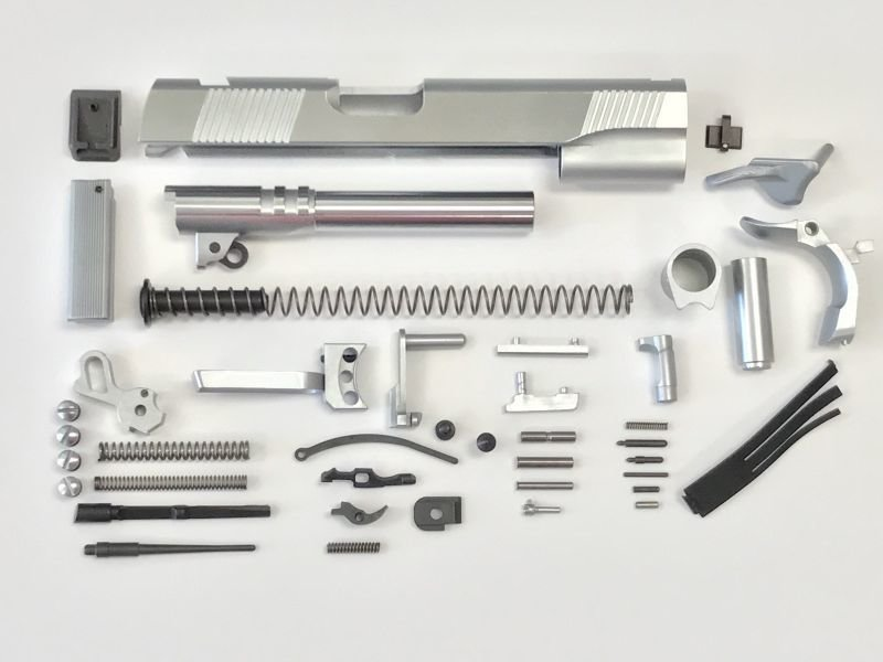 """1911 80% Parts Kit 5"""" .45 ACP 416R - No Frame - Stainless"""