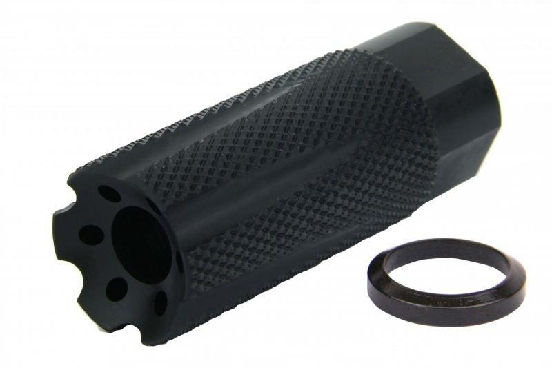 ".308, AR-10, 300 Black-Out Nurlon 5/8""x24 TPI Muzzle Brake Black Nitride"