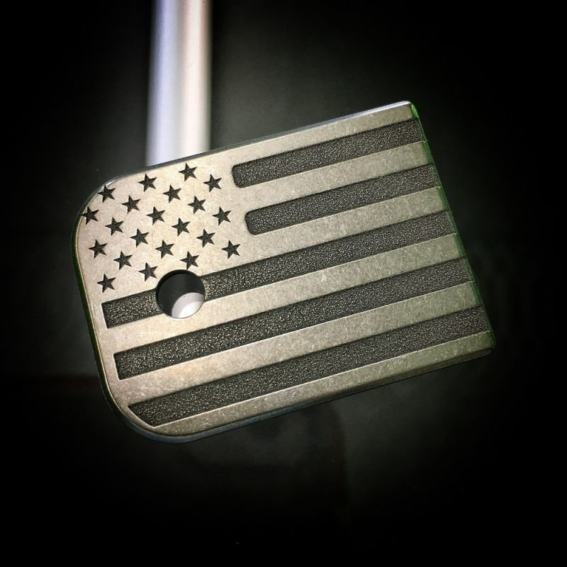 American Flag Rugged - Titanium Mag Plate