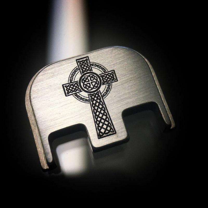Celtic Cross - Titanium Back Plate