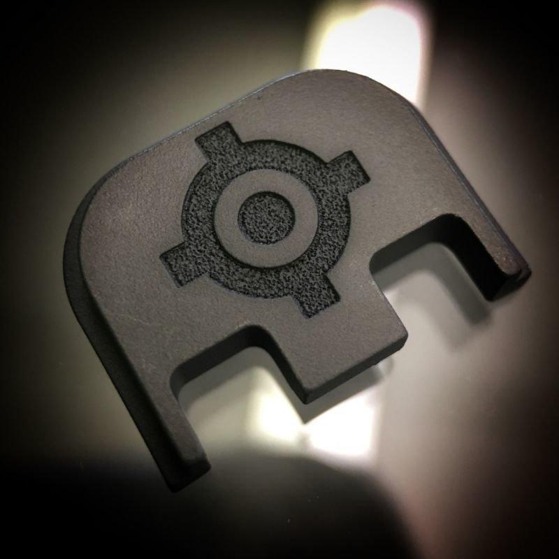 Kill Shot Precision Logo - BLACKOUT - Titanium Back Plate