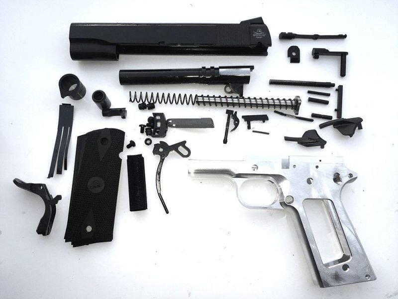 80% 1911 45  Cal  Government Size - Complete Pistol Kit