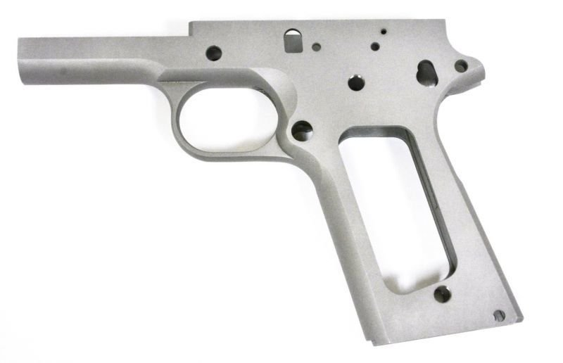 1911 80% FULL SIZE GOVERNMENT FRAME 416R STAINLESS STEEL WITH SMOOTH GRIP  FOR NON-RAMPED BARRELS | US Patriot Armory