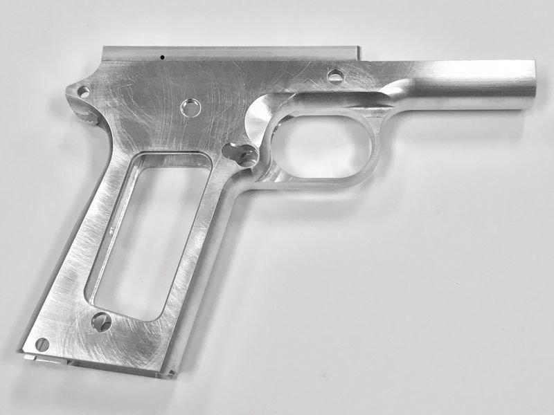 "1911 80% .45 ACP Commander 4.25"" Frame - 70 Series Aluminum"