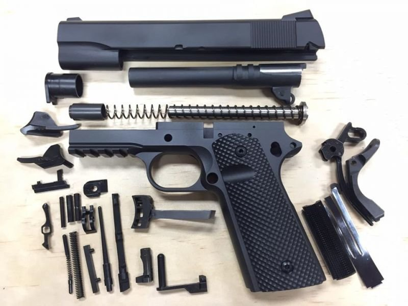 1911 Tactical 80% Builders Kit Black: Choice of .45 ACP or 9mm
