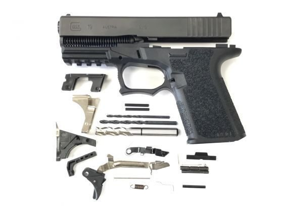 Glock 19 Compact 80% Pistol Build Kit - Upper & Lower Parts Kit - Caliber 19, 23 or 32