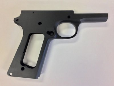80% 45 ACP Full Size Government Frame - Series 70 Forged 4140 Steel Black