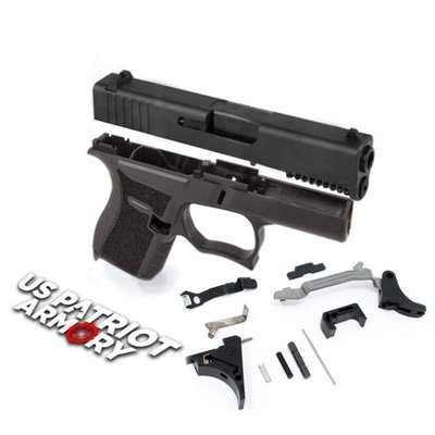 SS80 Glock 43 Black 80% Pistol Build Kit