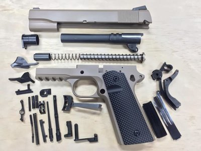 1911 Tactical 80% Builders Kit FDE - Choose .45 ACP or 9mm