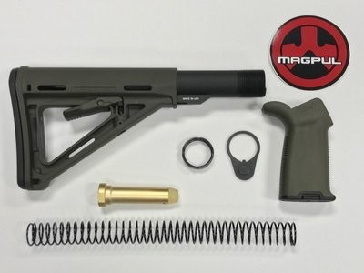 AR-15 Magpul Moe Stock Kit & Moe Plus OD Green Grip -  OD Green