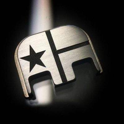 Texas Flag - Titanium Back Plate