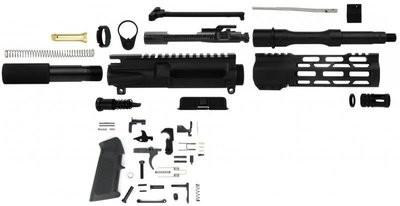 AR-15 UNASSEMBLED PISTOL KIT 300 BLACK-OUT NATO 7.5