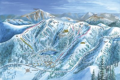 Bear Valley Village Bowl Trail Map