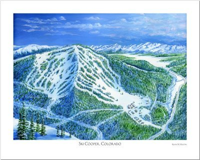 Ski Cooper Art Poster