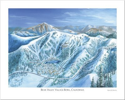 Bear Valley Village Bowl Art Poster