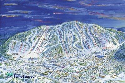 Saint-Sauveur Trail Map