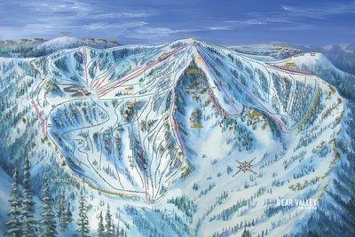 Bear Valley Snow Bowl Trail Map