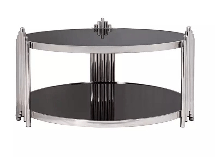 Noir Glass Coffee Table Round