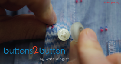 Buttons 2 Button Magnetic Adapter Set
