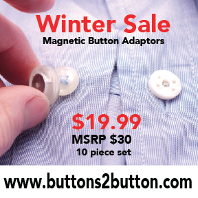 Buttons 2 Button Magnetic Adaptor Set (Contains 10 Adaptors)  *Promotional discount price while supplies last!