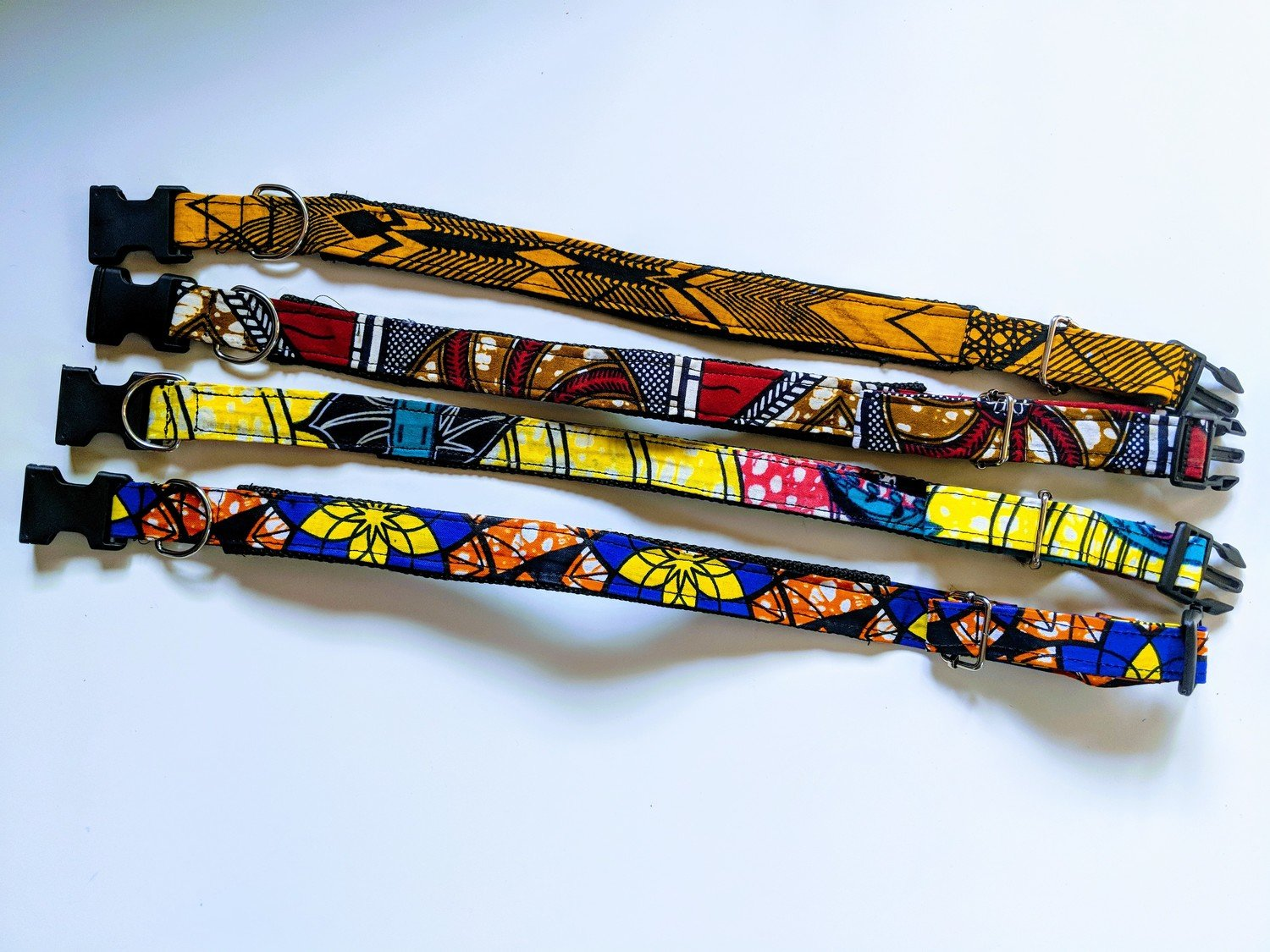Dog Collar Made from African Fabric